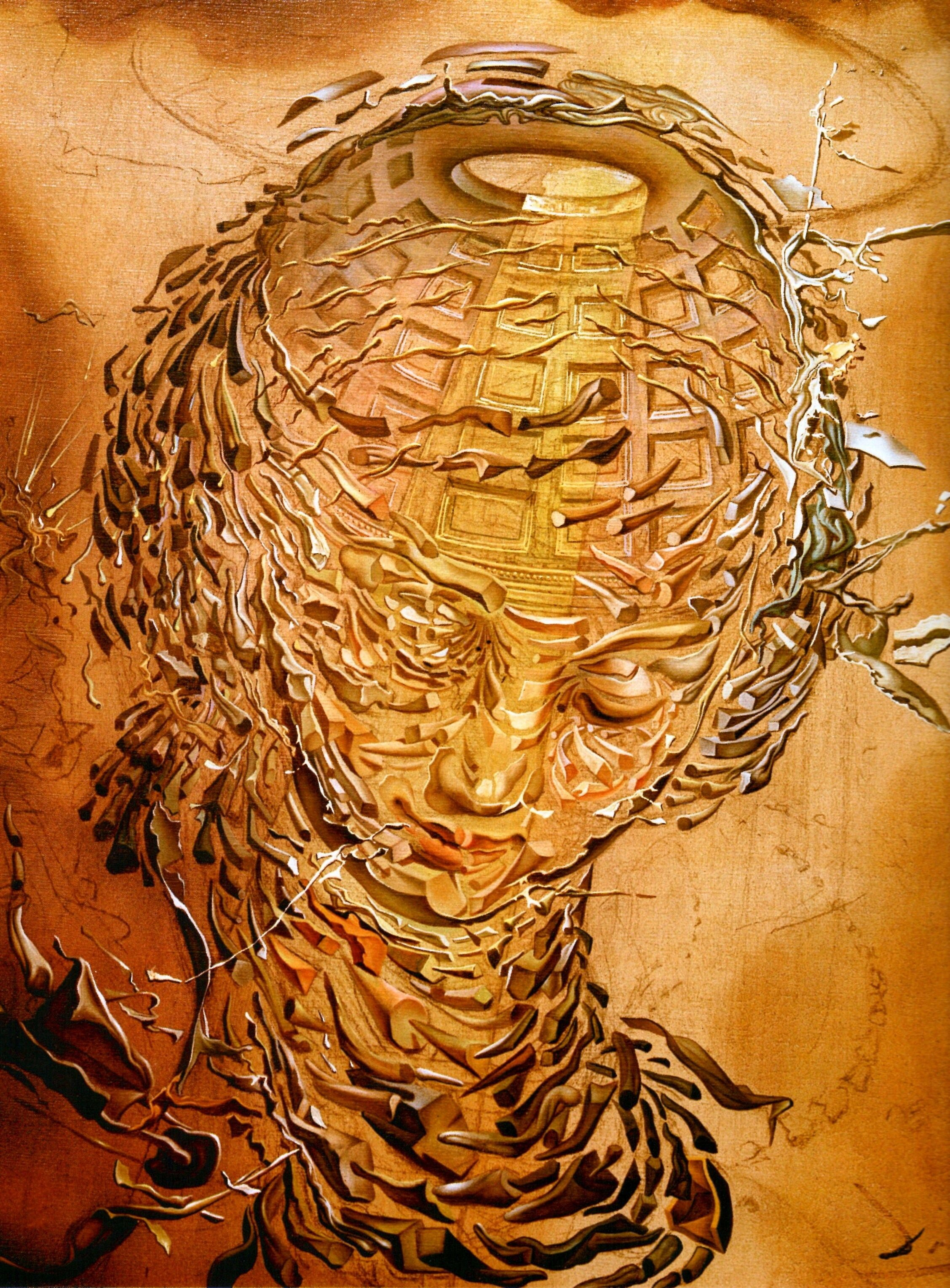 Raphaelesque Head Exploding, 1951 by Salvador Dali