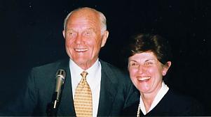 Dr. Vernikos with Senator John Glenn, the first American in space Photo: Geoffrey C. Hazzan