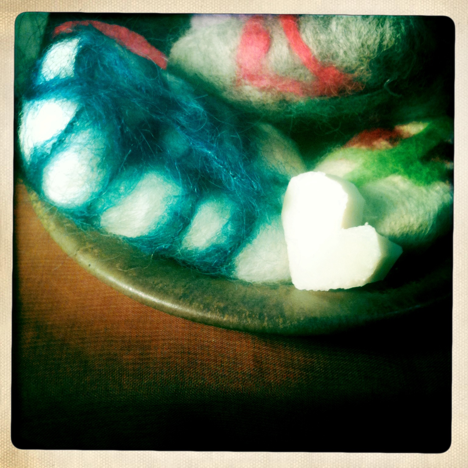 Wet-felted soaps are a fun way to learn the process, and are great in the tub!