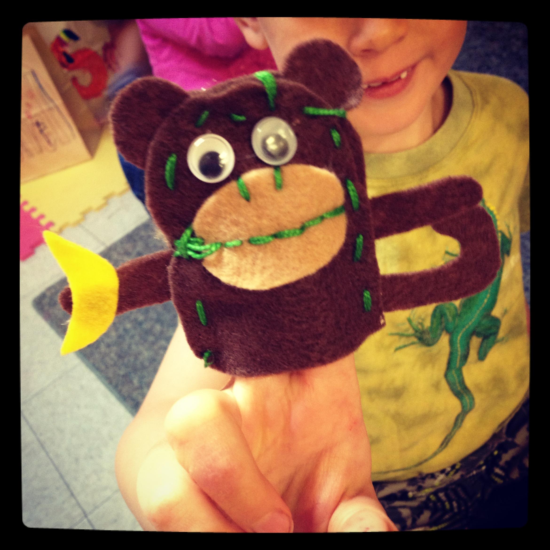 Monkey puppet!