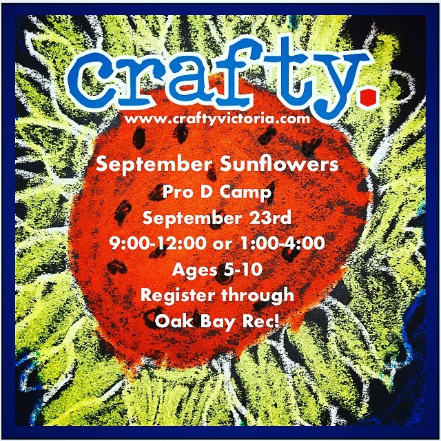 Pro D Camps this Monday y'all!! Sunny sunflower hangings and rock mandalas for the garden 🌻🌻🌻