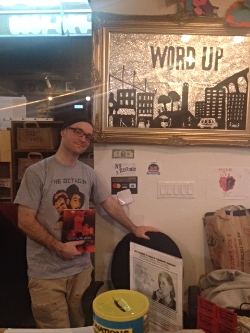 Will Glass, one of over 30 Word Up Community Bookshop Volunteers (a non-profit)