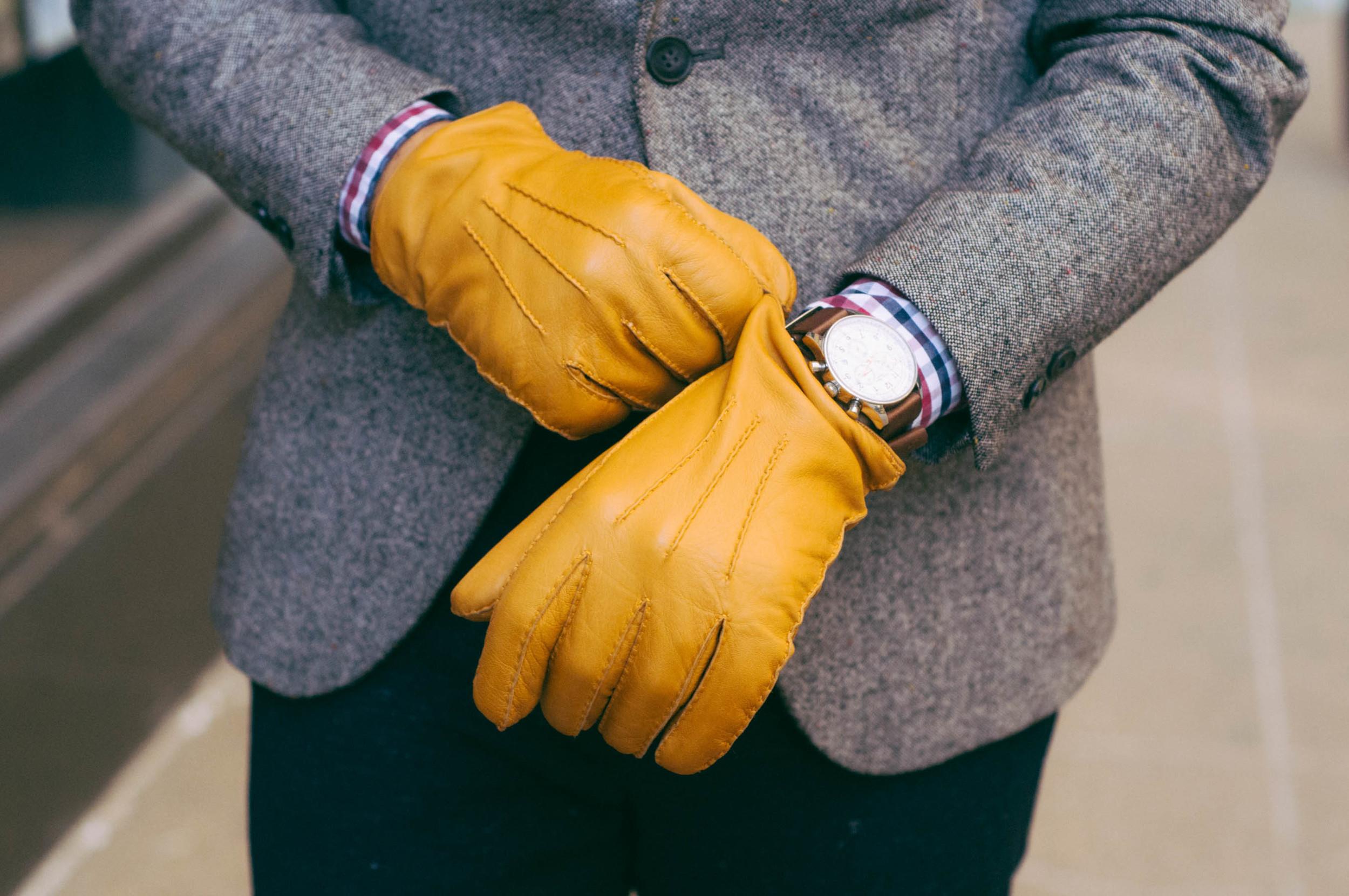 Pants &Jacket: H&M | Shirt: Merona | Tie: J.Crew | Pocket Square: The Tie Bar |Belt: J.Crew | Boots: Red Wing | Socks: J. Crew | Gloves: Jack Spade | Watch: Lucien Piccard | Glasses: Warby Parker