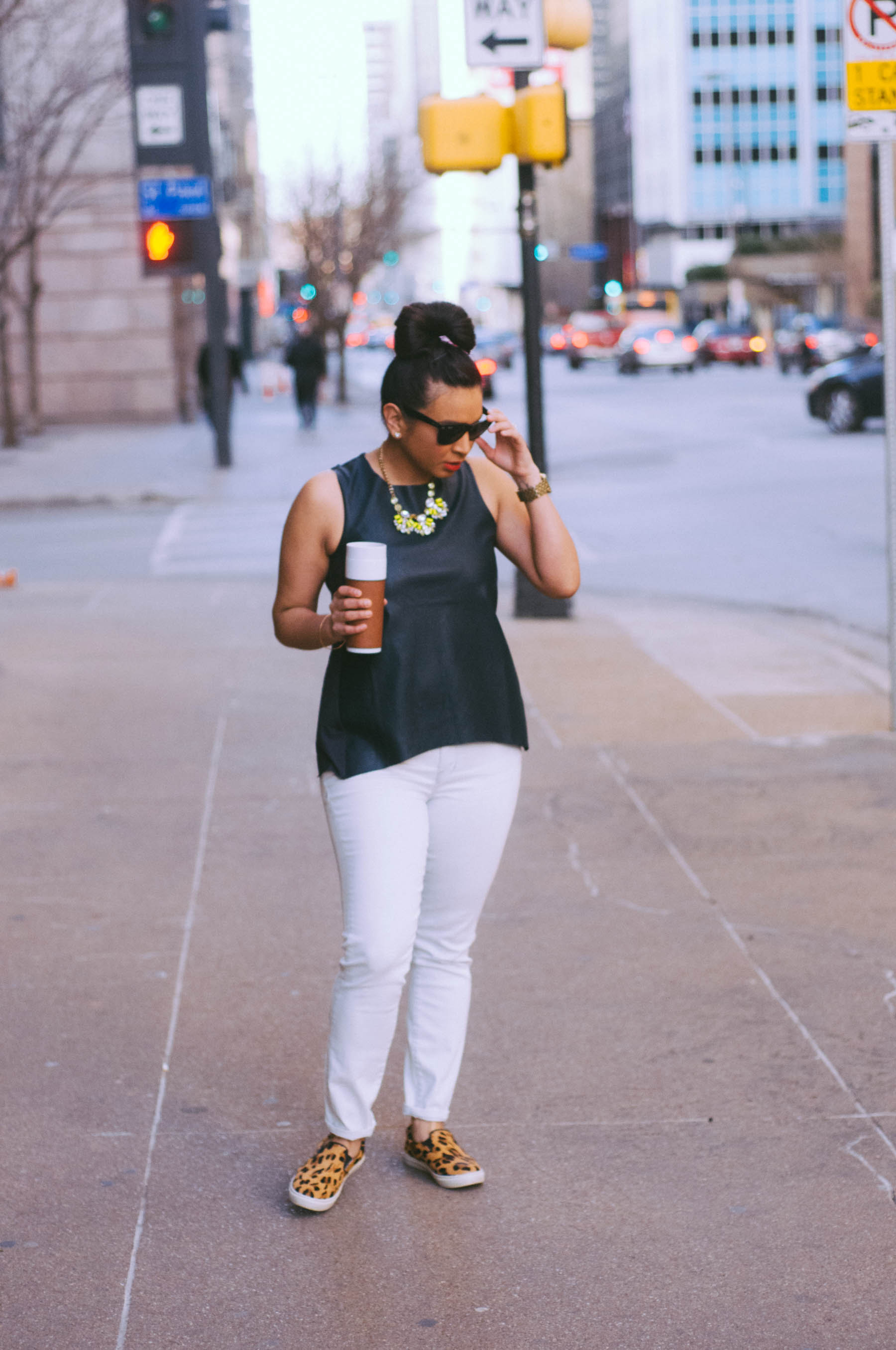 Top:  Milk & Honey  | Jeans:  Madewell  | Shoes:  Steve Madden  | Jewelry:  Trendy Trinkets  | Watch: Michael Kors (similar  here ) | Sunglasses:  RayBan