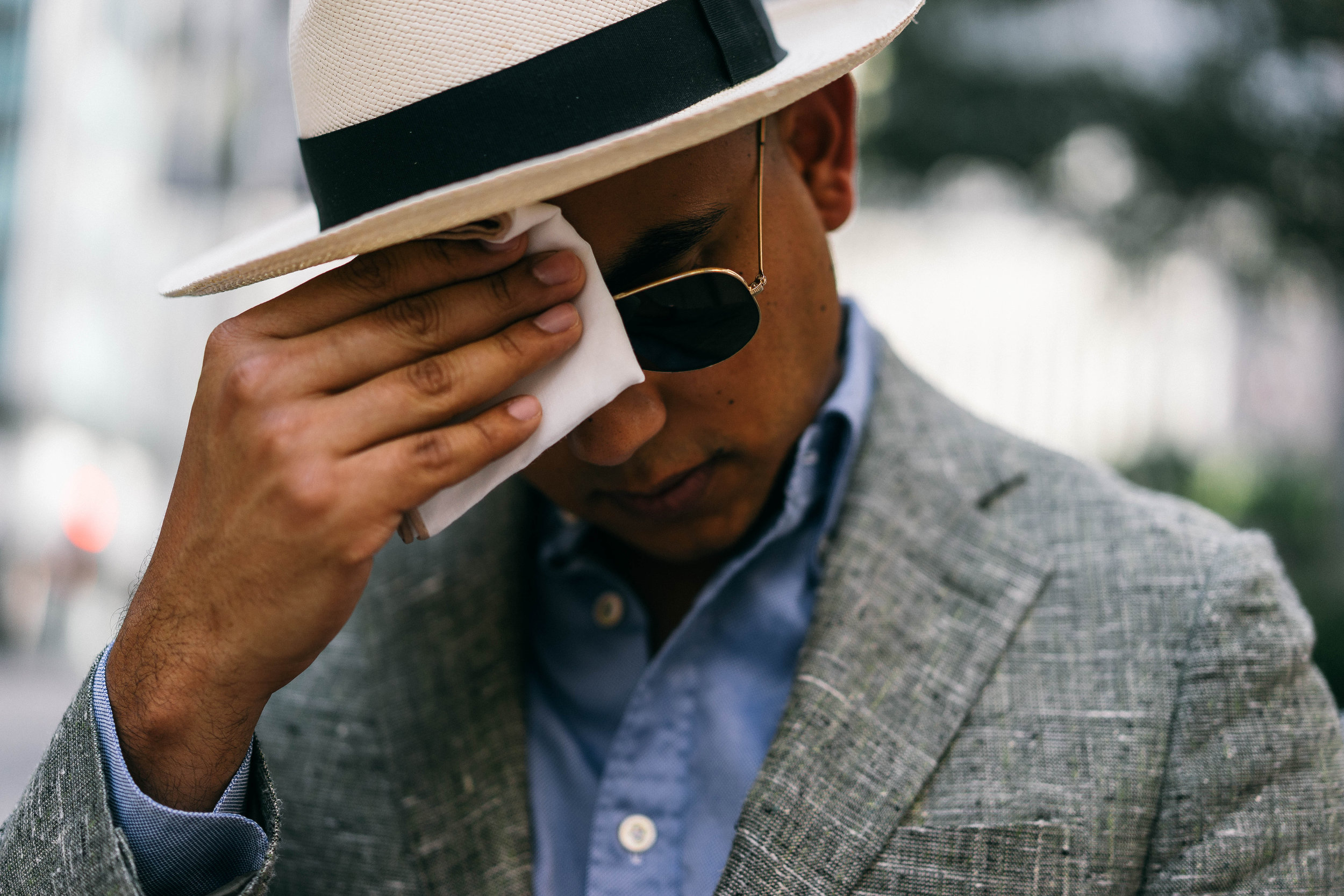 You'd be hard-pressed to catch me this summer without a pocket-square. I always use mine to wipe the sweat off my brow, and  these linen squares from The Tie Bar  are perfectly light and durable. And for $8-10/ea., you can't buy enough!