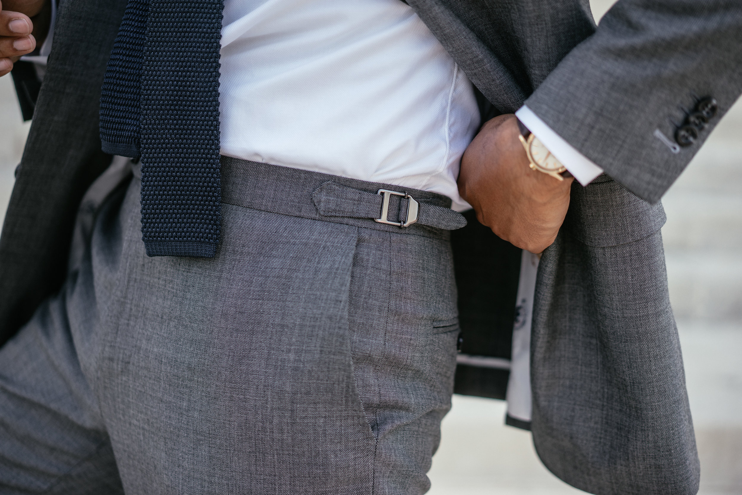 "Everyone has belt loops-- I figured ""why not go with side tabs?"" for a more traditional, yet  sleek  look."