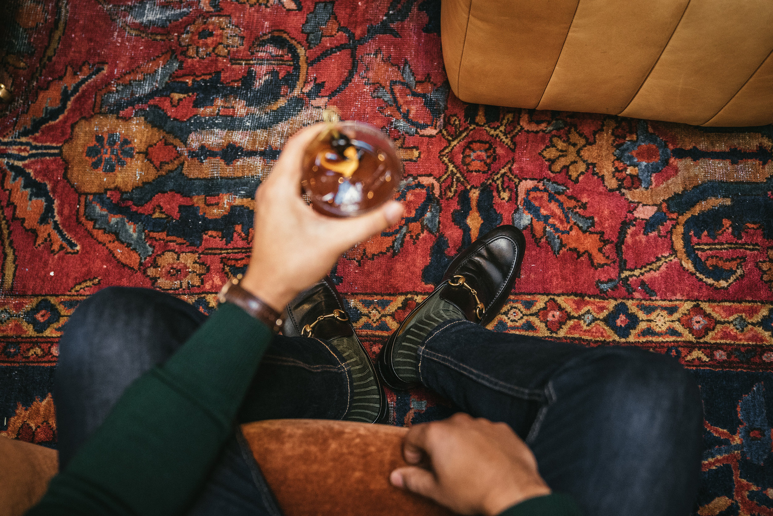 I've recently started wearing long socks with loafers during the colder months. It's functional and also gives you a more unique way to style your loafers.