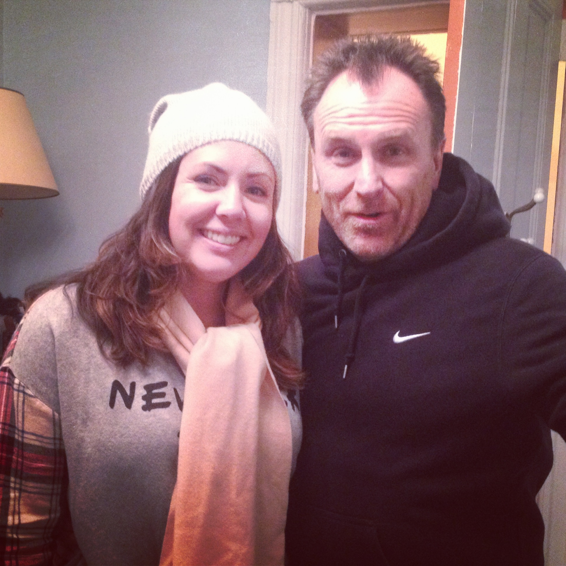 "Loved working with Colin Quinn on his new pilot ""Cop Show"" look out for it soon!! And check him out on Girls!"