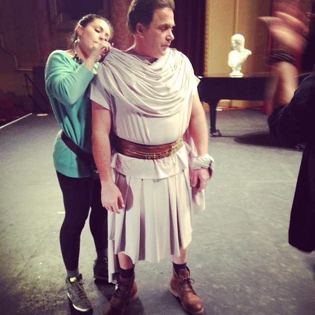 "I was the assistant costume designer for the indie comedy ""Friends and Romans"" starring Michael Rispoli... look out for that next year"