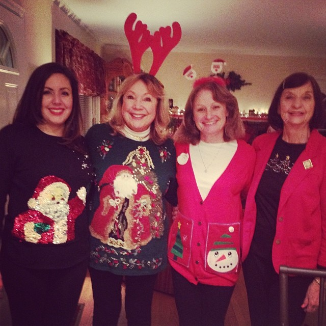 Yup, we did the ugly sweater thing...