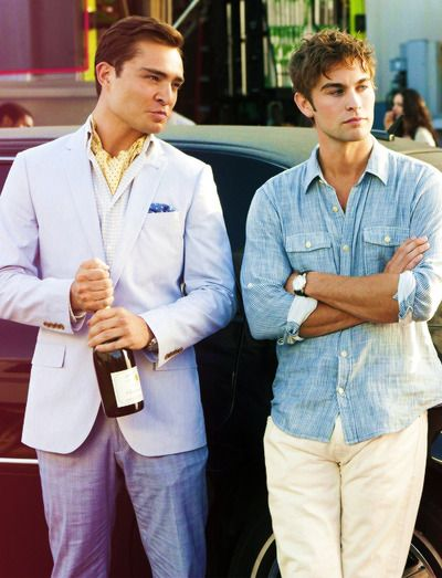 Nate's cute too, but Chuck's ascot is everything