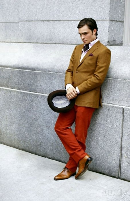 Chuck's not a man who's afraid of some color and a little Dandy style
