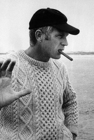 This Irish wool fisherman's sweater would make any man look like the burly, yet sensitive type..