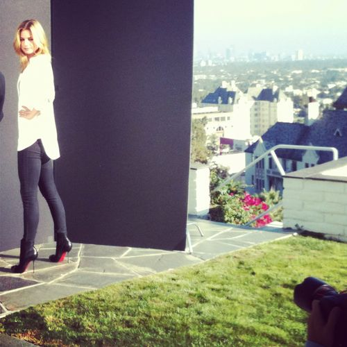 A shot from a Hollywood Hills shoot with Emily Vancamp