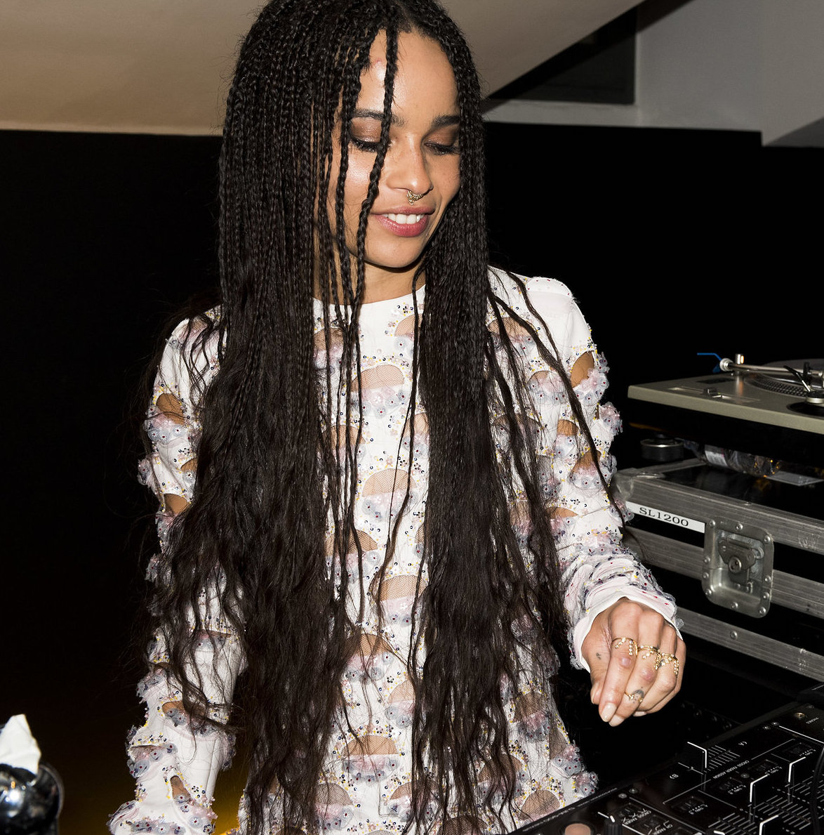 ZOE KRAVITZ  TRIPLE BURST RINGS