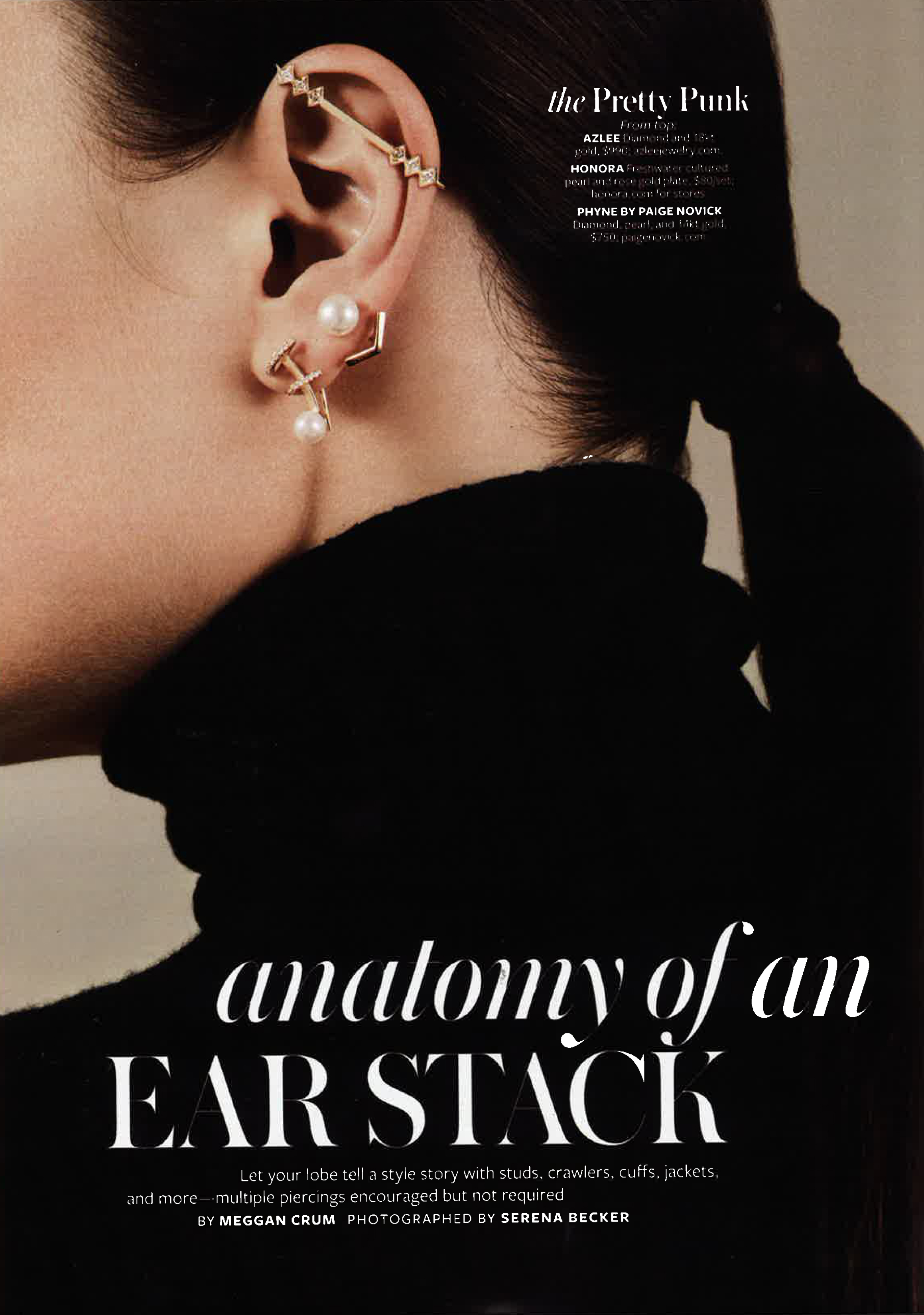 INSTYLE OCTOBER 2015  LIGHT ROD EAR CUFF