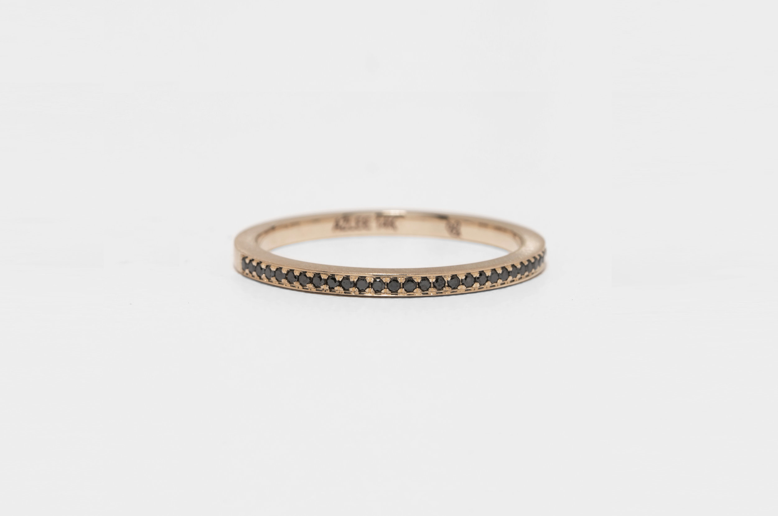 Rose Gold and Black Diamond Band