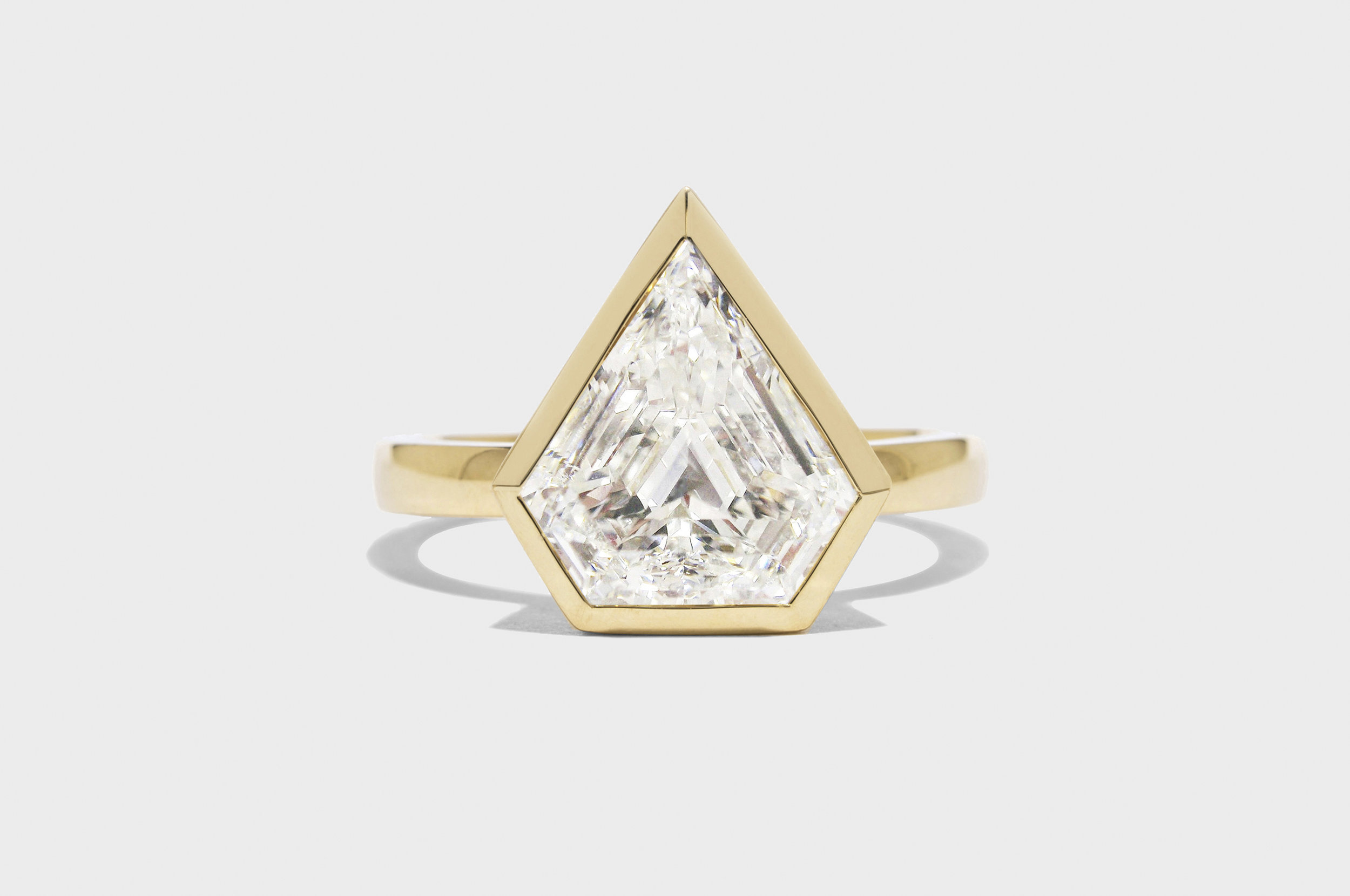 Lone Shield Diamond Ring