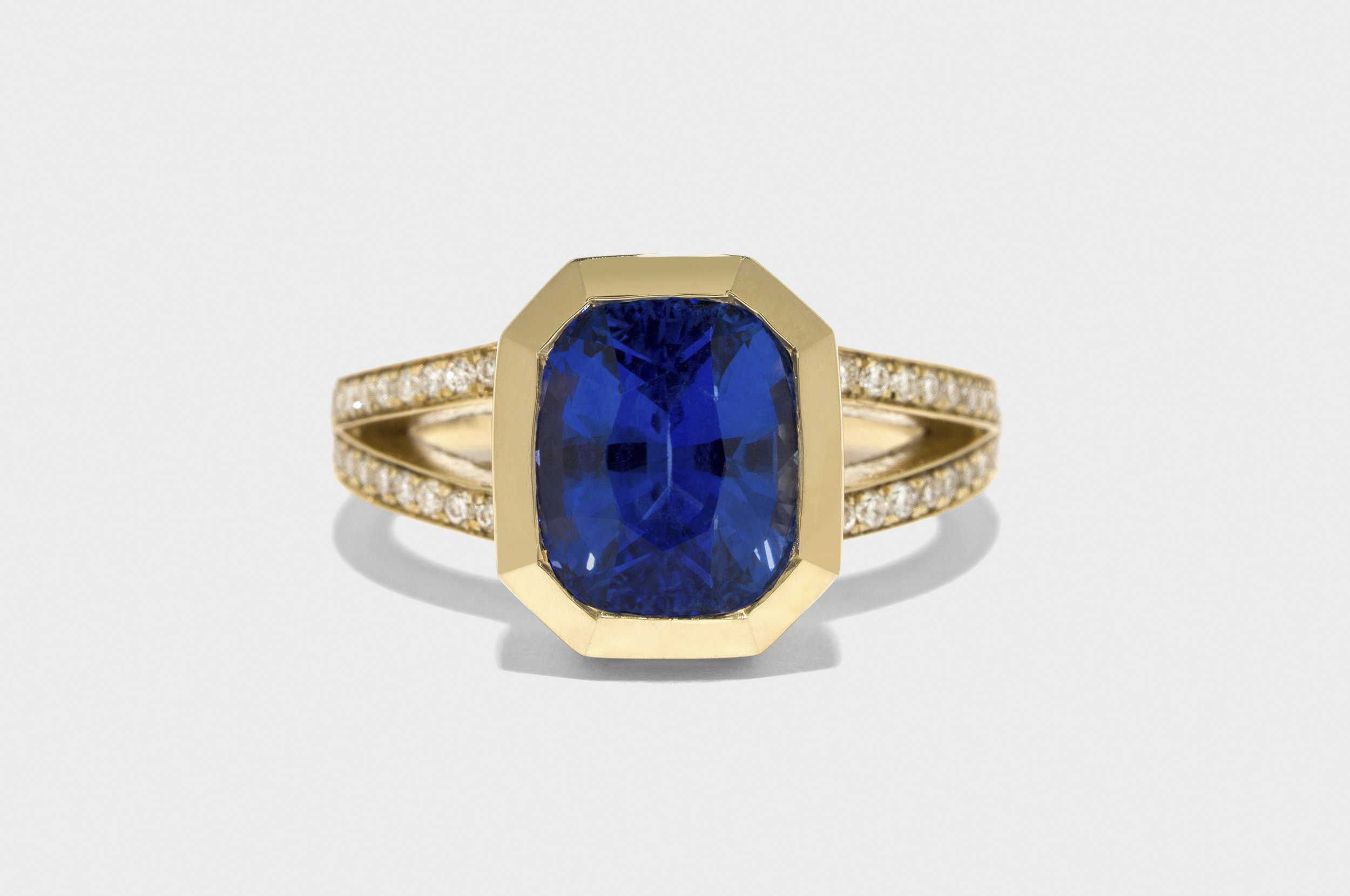 Re-set Sapphire Diamond Ring
