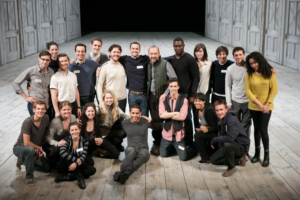 "The 2012 ""Richard's Rampage"" participants onstage with Kevin Spacey."