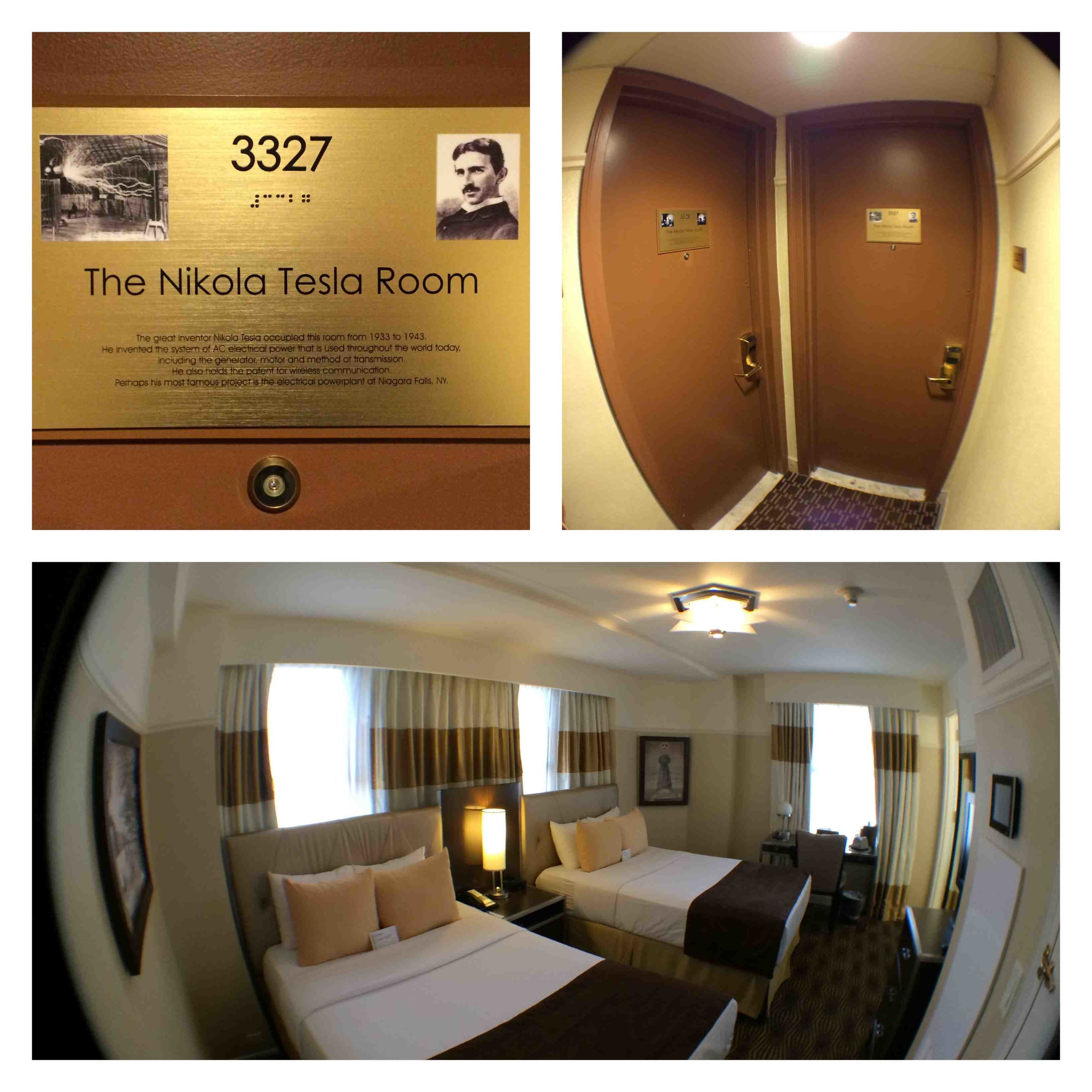 Nikola Tesla's Room 3327 at The New Yorker Hotel - September 2014