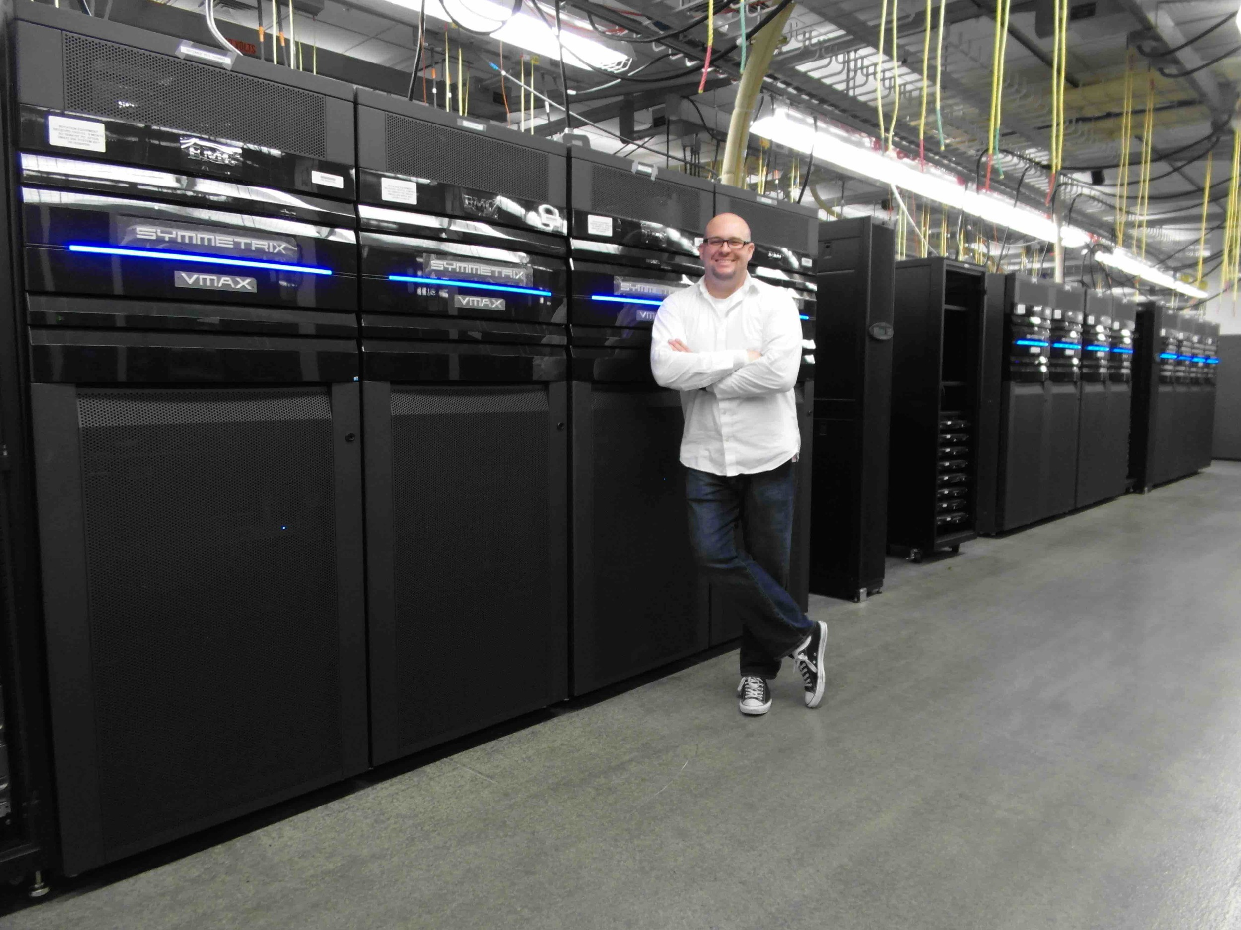 Quick photo while working on some Symmetrix VMAX Storage Arrays in the lab.
