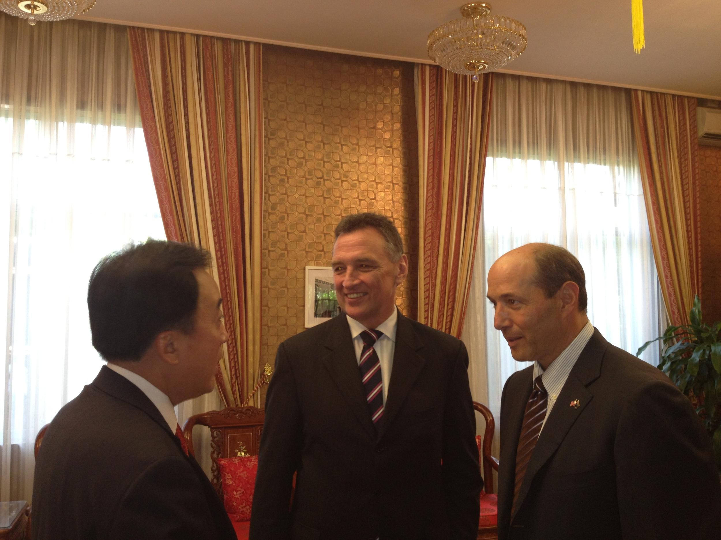 With US Ambassador Jeffrey Bleich and China's Ambassador Chen Yuming