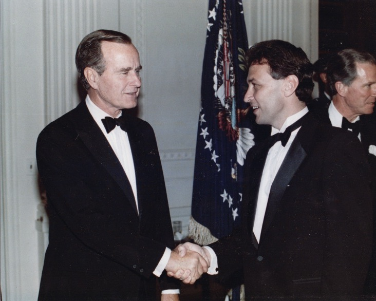 With President George Bush Sr