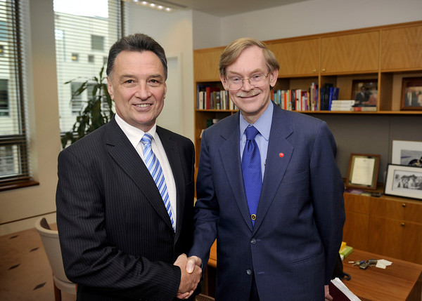 With former World Bank President Robert Zoellick