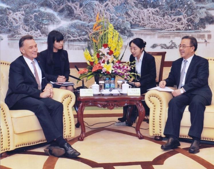 With Hu Chunhua - Party Secretary of China's Guandong Province