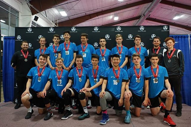 Congrats to the Valley 16s who took home silver at the @volleyballbc provincials this weekend. Lots of tough battles this weekend- proud of all the hard work the boys and coaches have put in this season.  #FVVC #vbcprovs