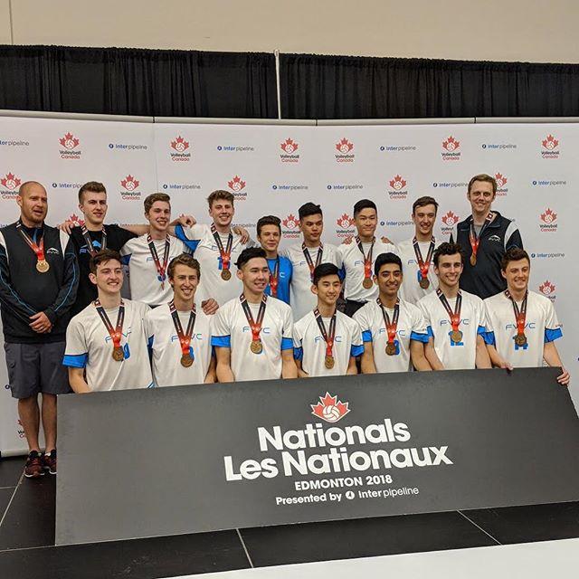 The 2018 18U National Bronze Medalists 🏆 Congrats boys!  #FVVC #vcnationals