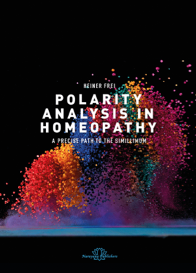 Polarity Analysis in Homeopathy   This book introduces you to the method of polarity analysis and provides numerous case studies of acute and chronic disease, psychiatric disorders, ADHD as well as multimorbid illness. The case studies illustrate the method and provide an opportunity to learn polarity analysis step-by-step with practical exercises. The checklists and questionnaires included can be used by readers to implement the procedure in their own practices. Several outcome studies demonstrate the effectiveness of the method.  Available at Narayana Publishers