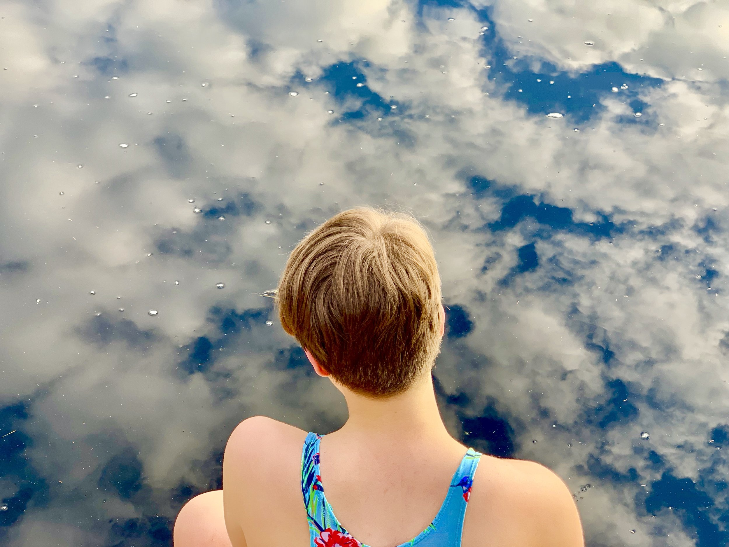 Skyswimming with my daughter in our neighbourhood. Spring 2019