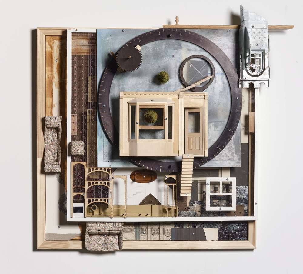 City of the Oscillator , 2016,   found objects and hardware