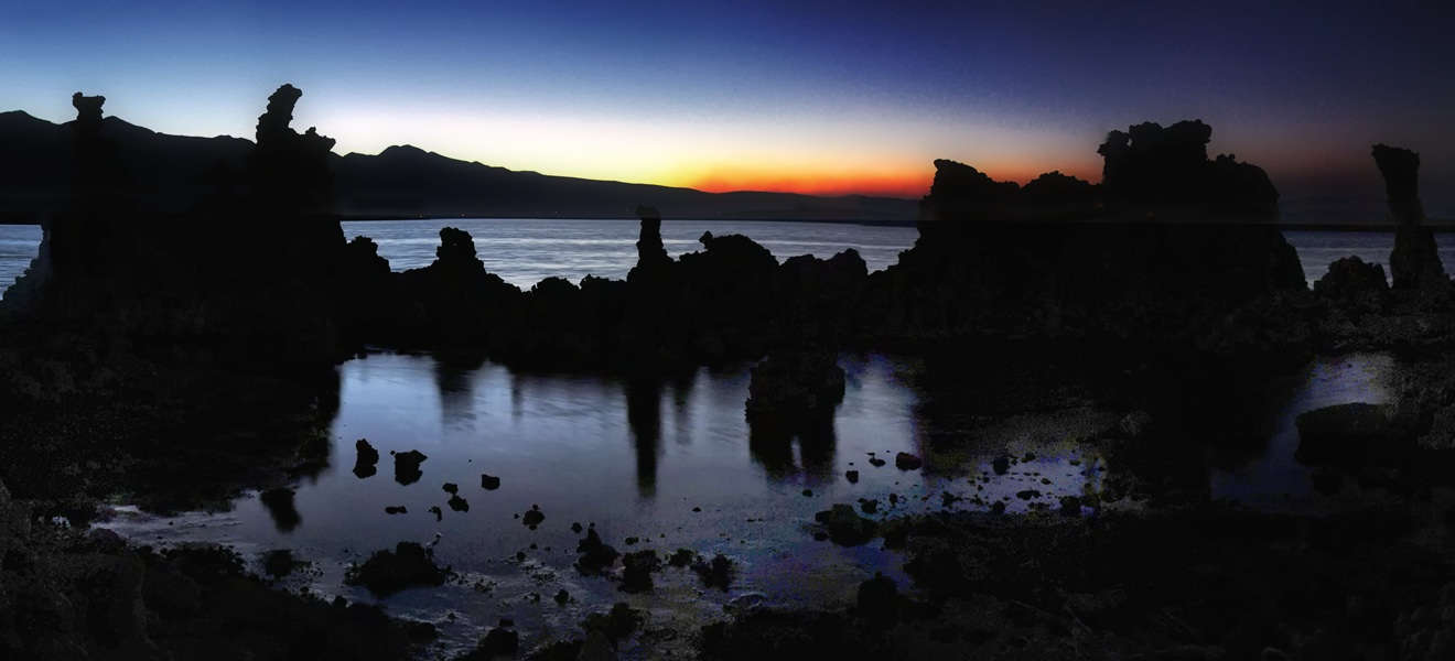 Mono Lake at dusk. Photo by  Jeff Long