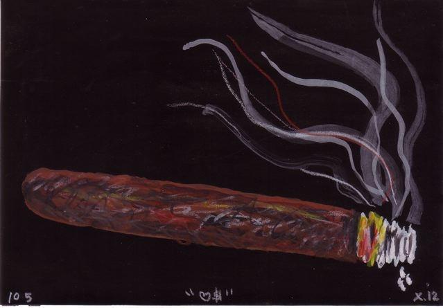 Smoke A Cigar.  Drawing by  Frank X. Tolbert2