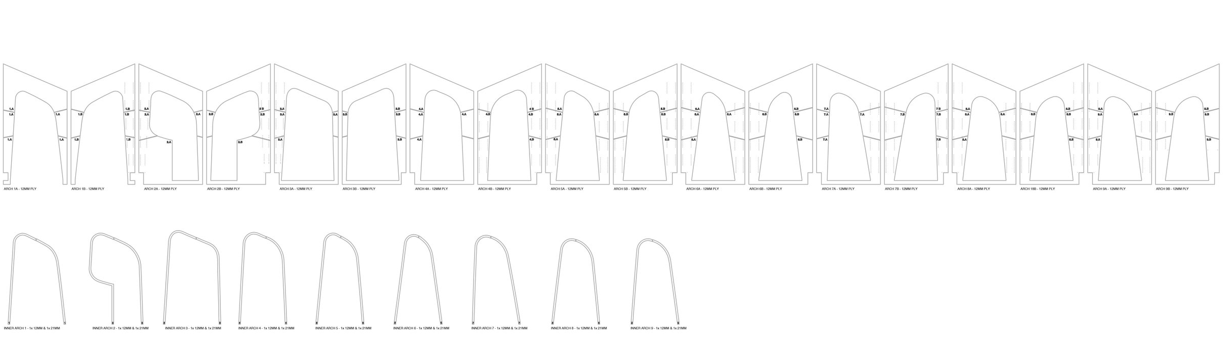 CNC cutting drawing (Arboreal Architecture)