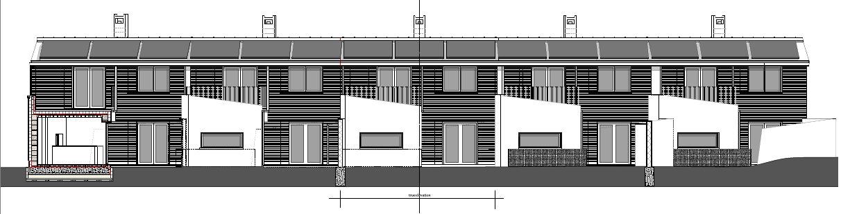 Elevation drawings above by Nicolas Pople Architects