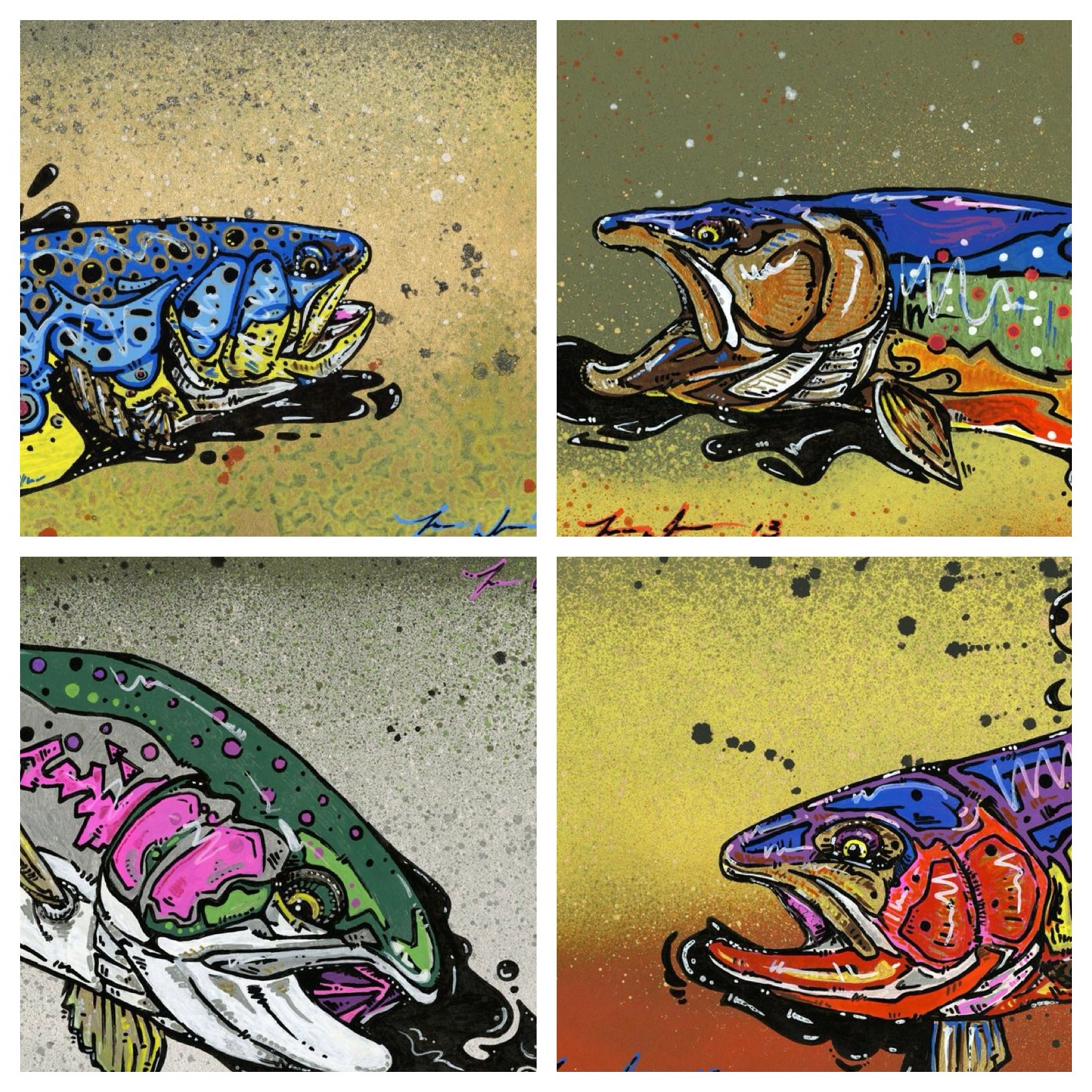 Cosmic Trout archival 4 pack.