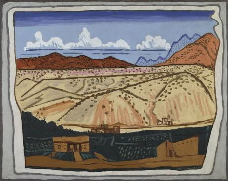 Stuart Davis (1892–1964),  New Mexican Landscape , 1923, oil on canvas, Amon Carter Museum, Fort Worth, Texas, © Estate of Stuart Davis/ Licensed by VAGA, New York, NY