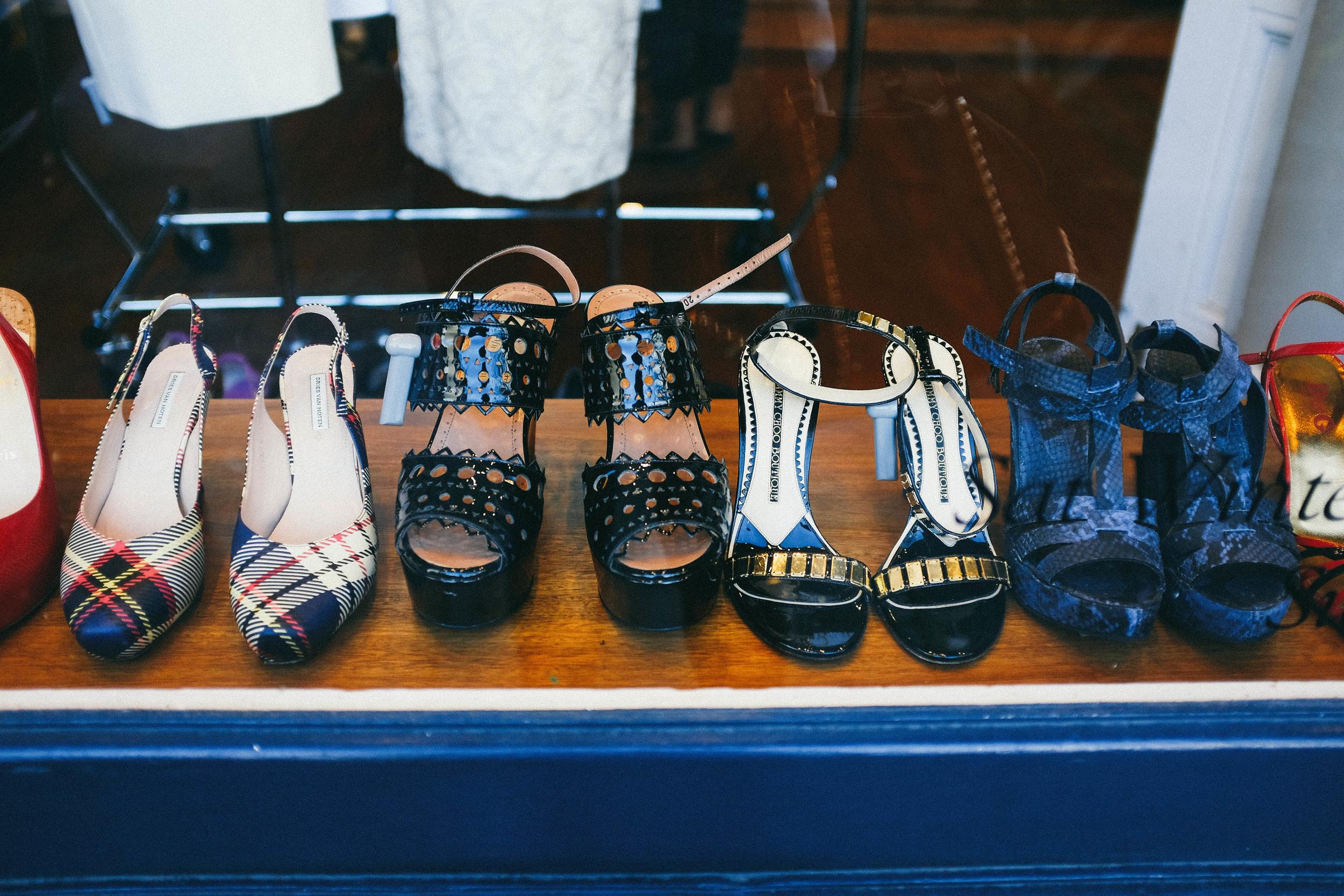shoes in shop window
