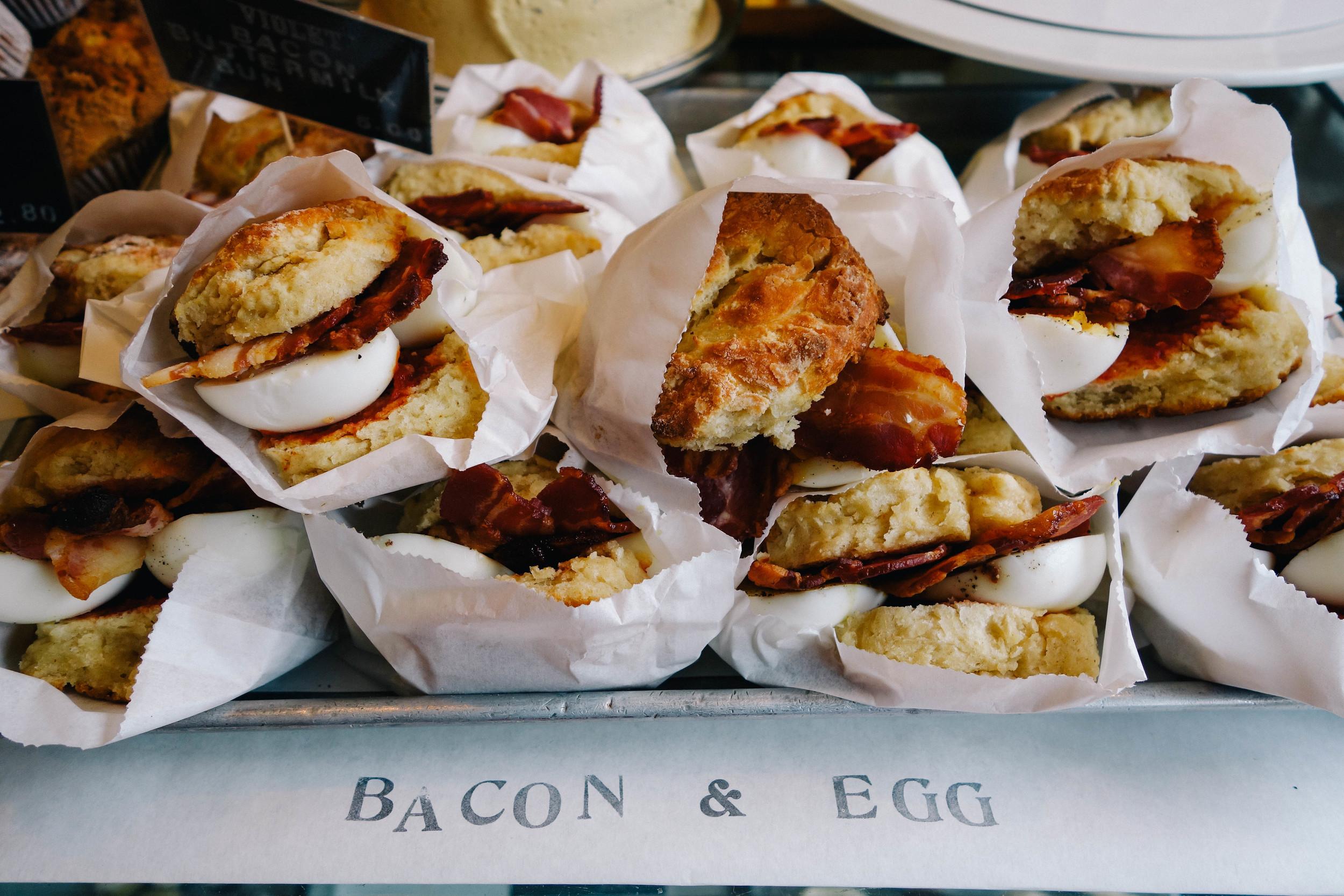 bacon & egg scones