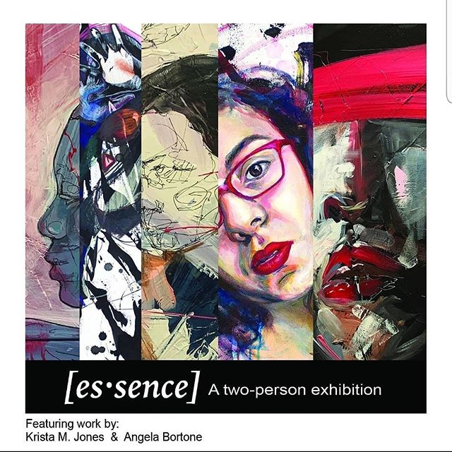 Tonight!!!! @angela_bortone and @jonesyartatl have a show at @bluemarkstudios opening tonight!! Come see [es·sence] from 7 PM - 10 PM. The celebration will feature art, music, and refreshments. The event is free and open to the public. We better see you there! #artcollective #weloveatl #artistsoninstagram #livingmelodycollective #artsatl #contemporaryart #painting #artopening #artsy #paintersofinstagram