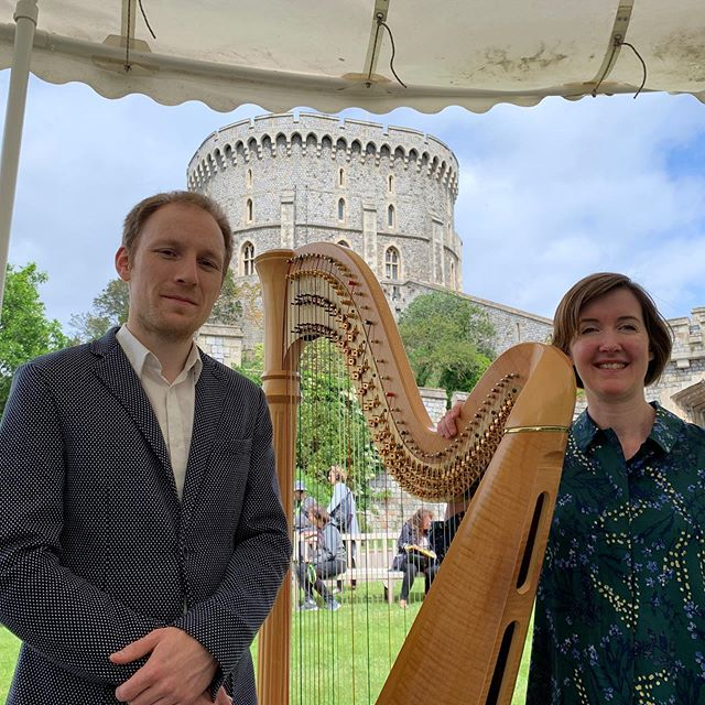 A perfect day for @bachtobaby at Windsor Castle in partnership with @royalcollectiontrust and a treat to sing with @jeankellyharp