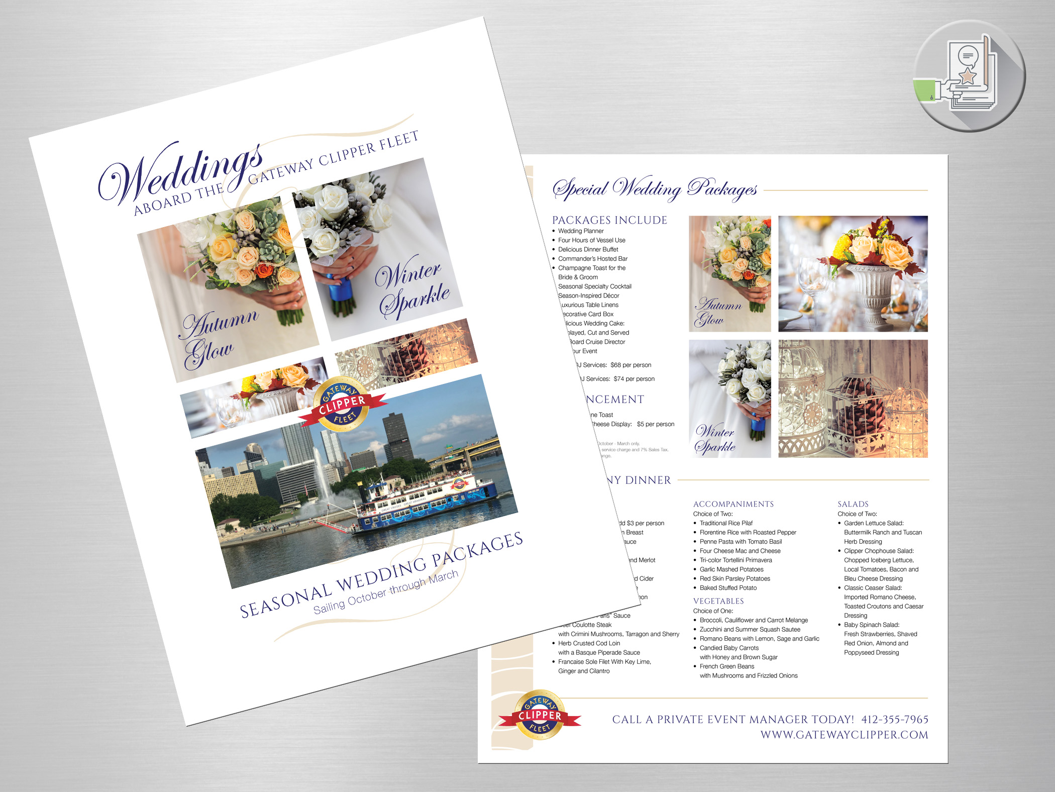 Gateway Clipper Fleet - Seasonal Wedding Flyer