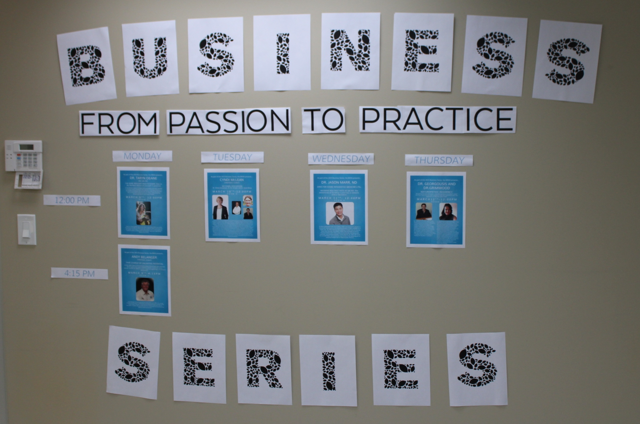 BNSA Business Series 2015- From Passion to Practice