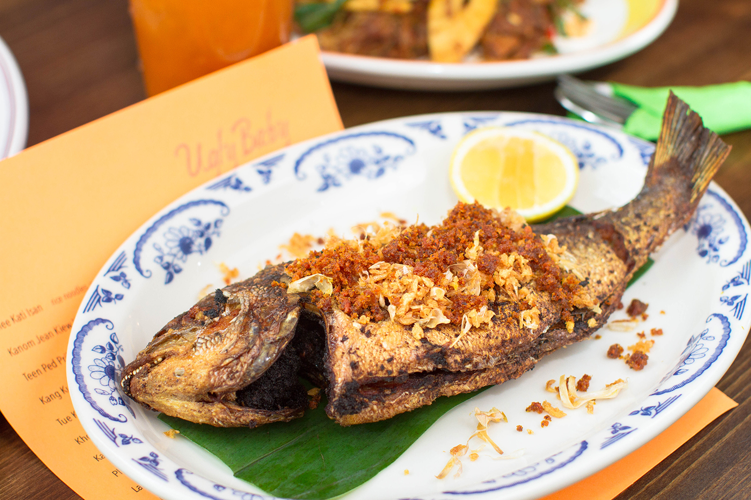 Pla Tod Kamin (yellow sea bream)