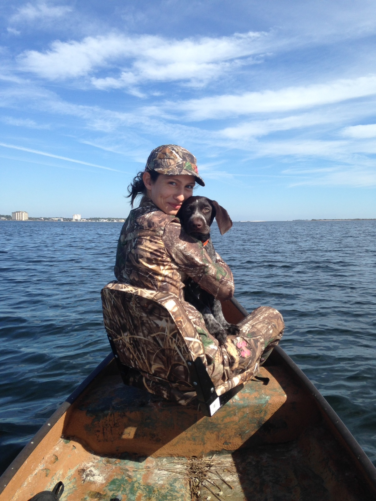 Able - Owned by Annette Martin. Duck hunting on the gulf.