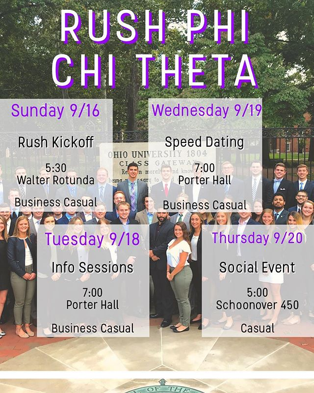 Join us at our rush events to learn why we love PCT!
